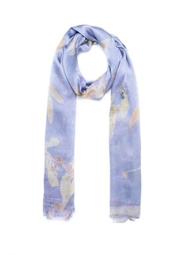 Silk and Cashmere Saf İpek Ekolojik Şal Mor